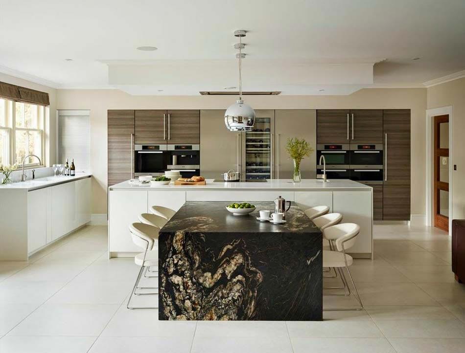 Am nager la maison une cuisine moderne au design sobre - Amenagement cuisine ouverte avec salle a manger ...