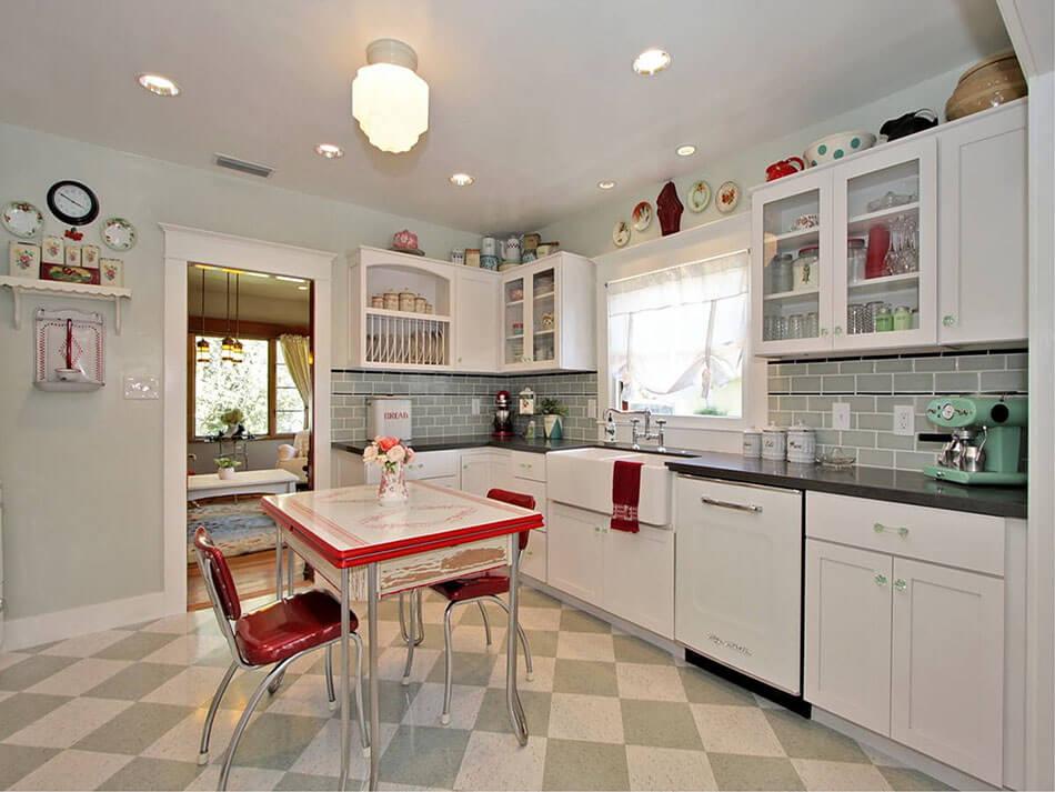 La cuisine retro vintage garantit un v ritable d paysement vers le pass design feria - Deco cuisine chaleureuse ...