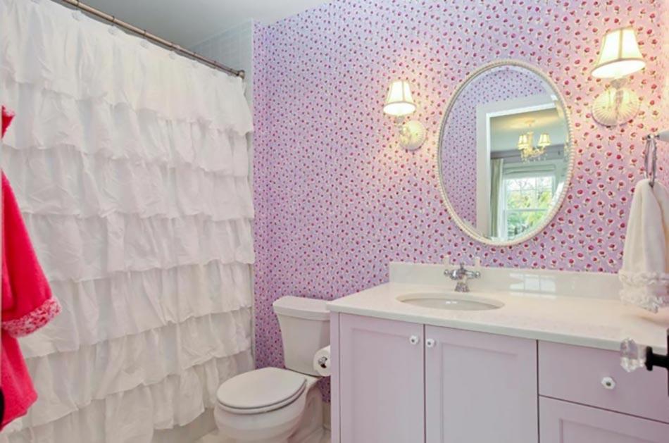 ameublement de salle de bain rideaux ou parois originaux. Black Bedroom Furniture Sets. Home Design Ideas