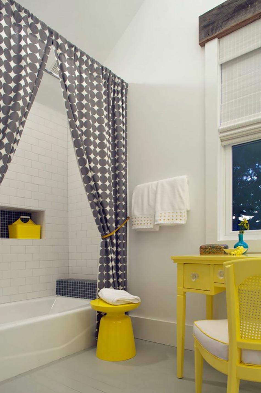 Rideaux Pour Salle A Manger Moderne ameublement de salle de bain : rideaux ou parois originaux
