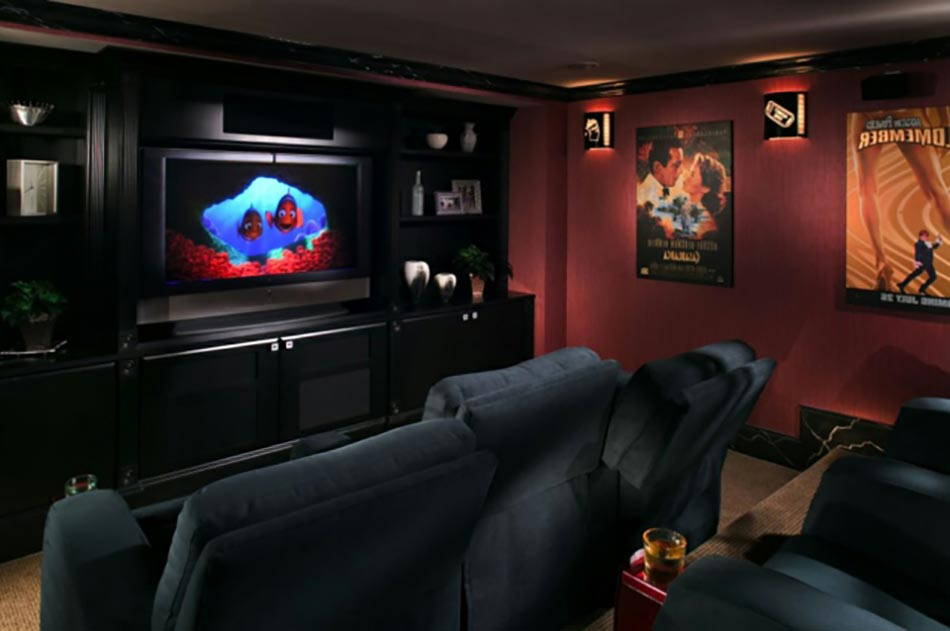 salle de cinema a la maison home theater with salle de cinema a la maison simple addthis. Black Bedroom Furniture Sets. Home Design Ideas