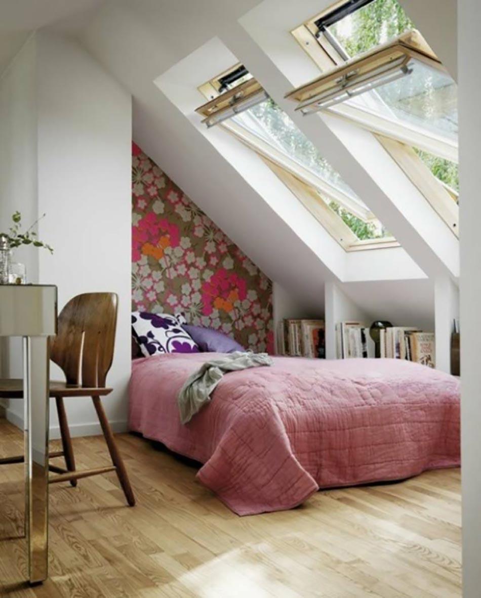 Connu Aménagement des combles pour une jolie chambre sous toit | Design  OT16
