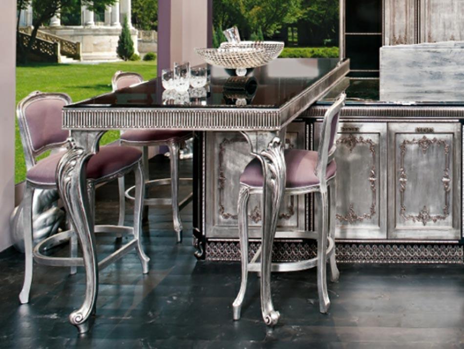 cuisine moderne l ameublement baroque remis au go t du. Black Bedroom Furniture Sets. Home Design Ideas