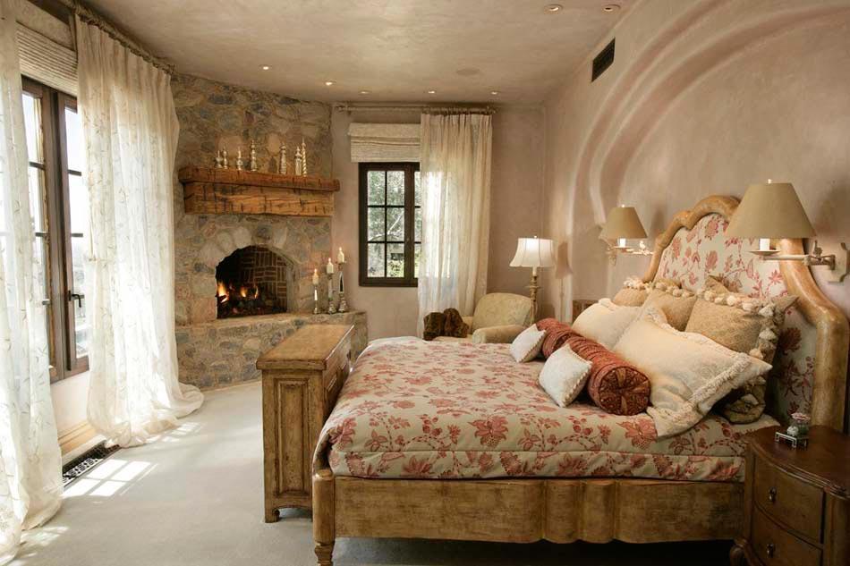 15 exemples d une belle chambre avec chemin e aux ambiances vari es design feria. Black Bedroom Furniture Sets. Home Design Ideas