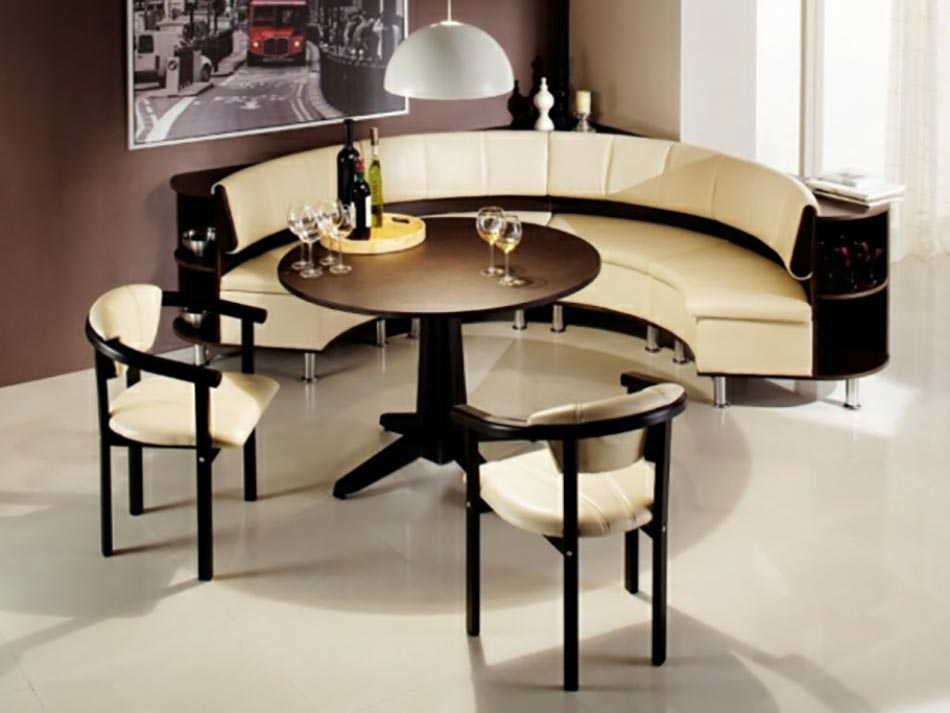 coin repas convivial gr ce une banquette d angle design design feria. Black Bedroom Furniture Sets. Home Design Ideas