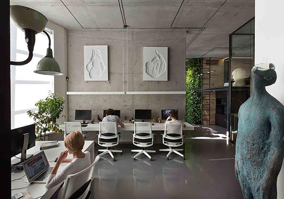 Bureau design pour des agences de conceptions cr atives for Interieur contemporain design