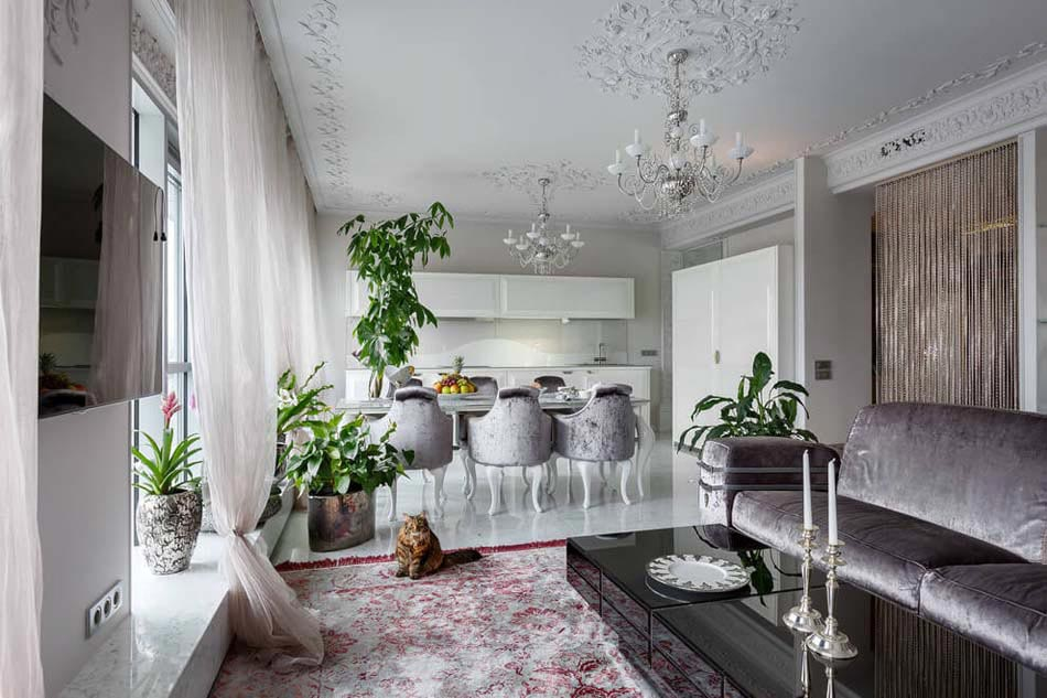 Bel appartement luxueux saint p tersbourg au design l gant intemporel design feria - Idee deco huis interieur ...