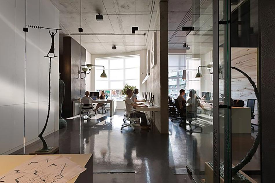 design office bureau moderne contemporaine ambiance travail
