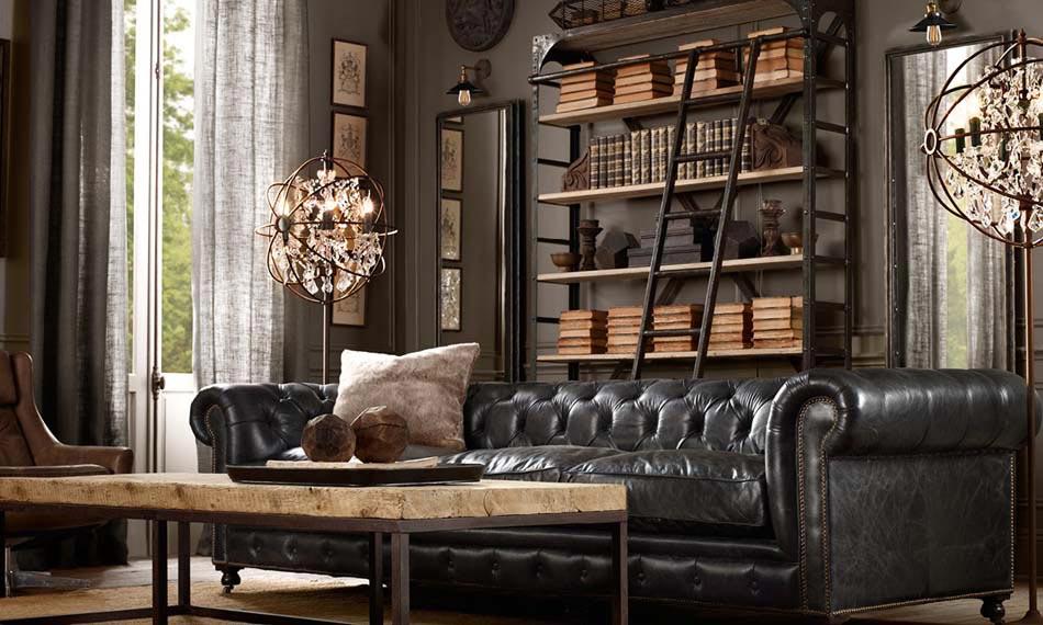 un int rieur de maison la tendance r tro dans l esprit d co steampunk design feria. Black Bedroom Furniture Sets. Home Design Ideas