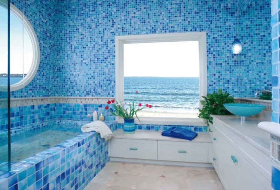 Id es d co estivale de style marin pour une maison de for Belle mere dans la salle de bain
