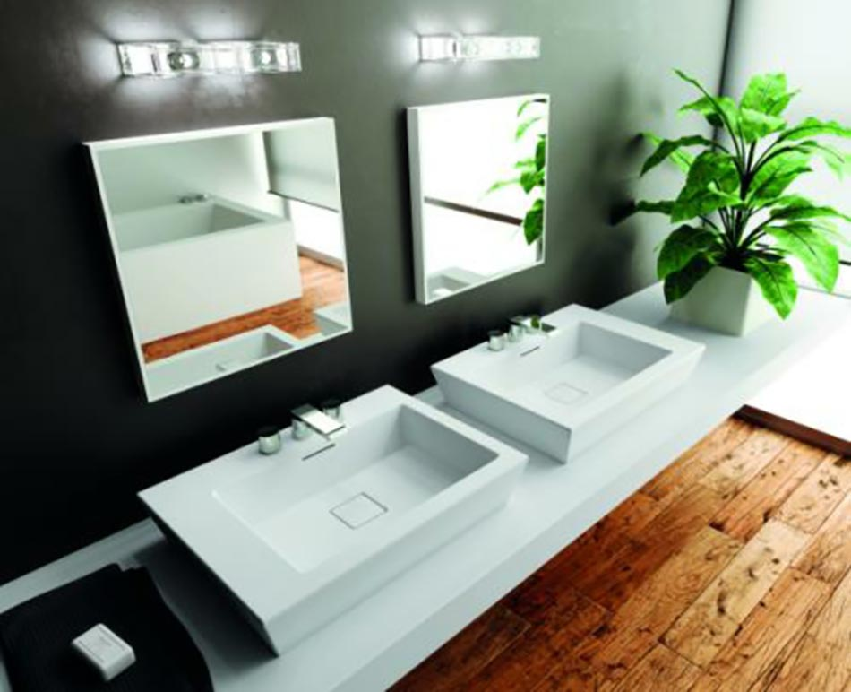 Vasque design ou l ameublement salle de bain original design feria for Meuble lavabo double