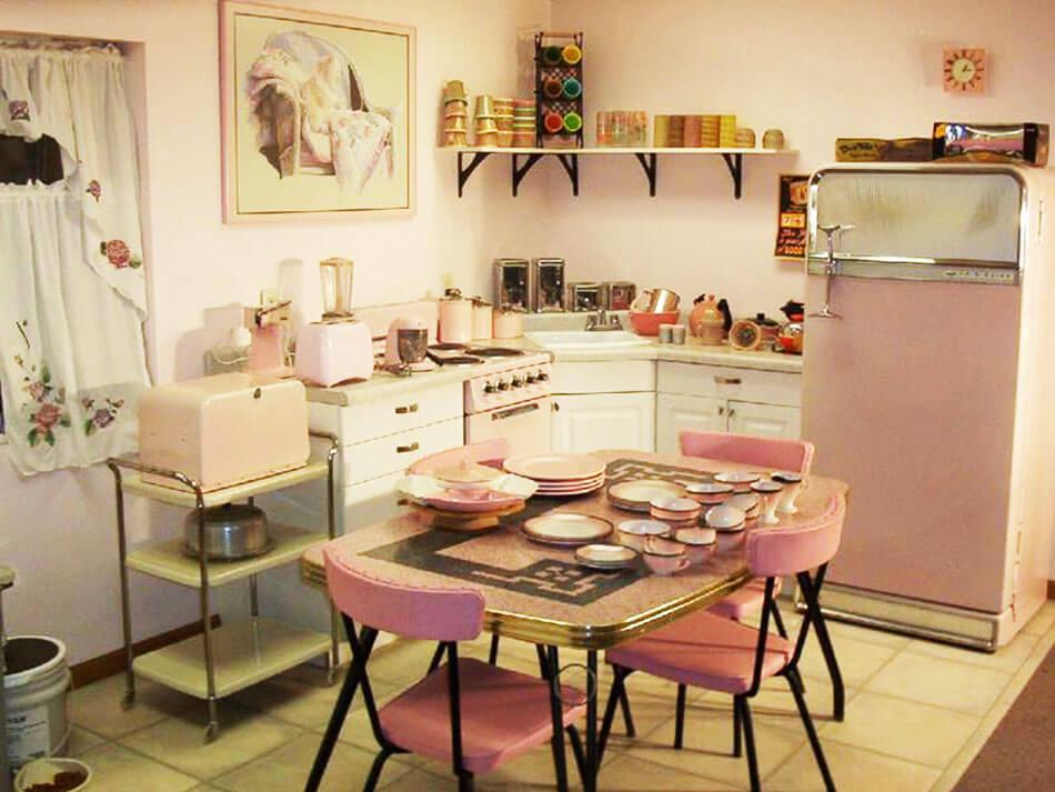La cuisine retro vintage garantit un v ritable for Cuisine retro design