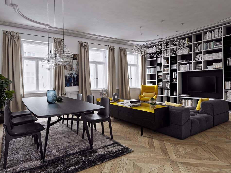 Une d co salon de toute fraicheur aux touches printani res - Idee deco salon appartement ...