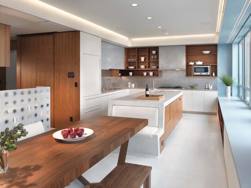 Am nager la maison une cuisine moderne au design sobre - Photos de belles cuisines modernes ...