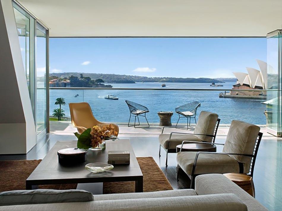 Propri t s magnifiques avec vue sur la mer design feria for Salon ouvert sur terrasse