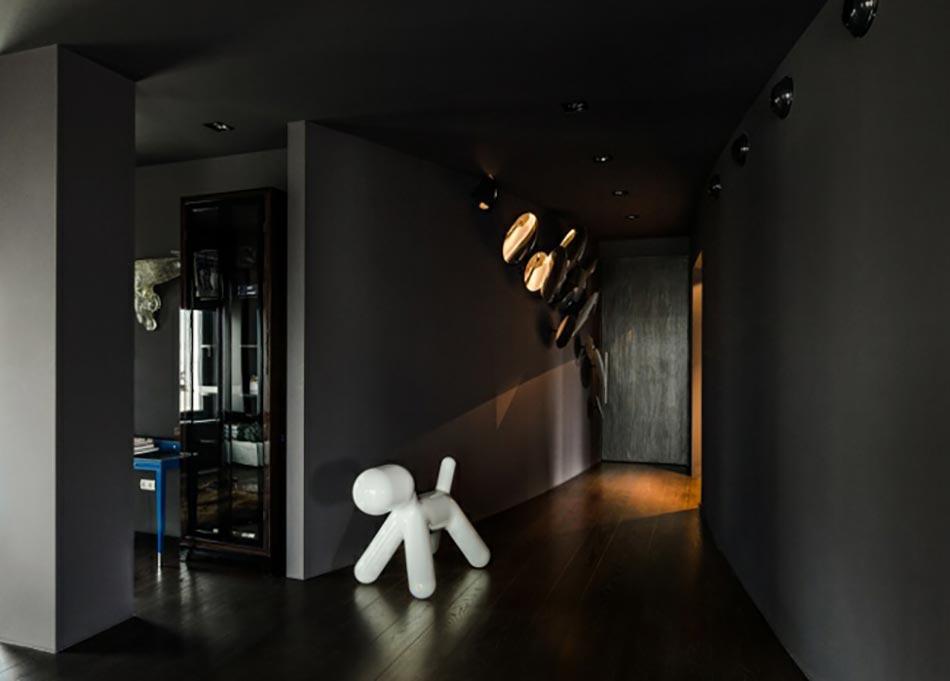 Maria katkova un architecte d 39 int rieur pas comme les autres - Couloir gris anthracite ...