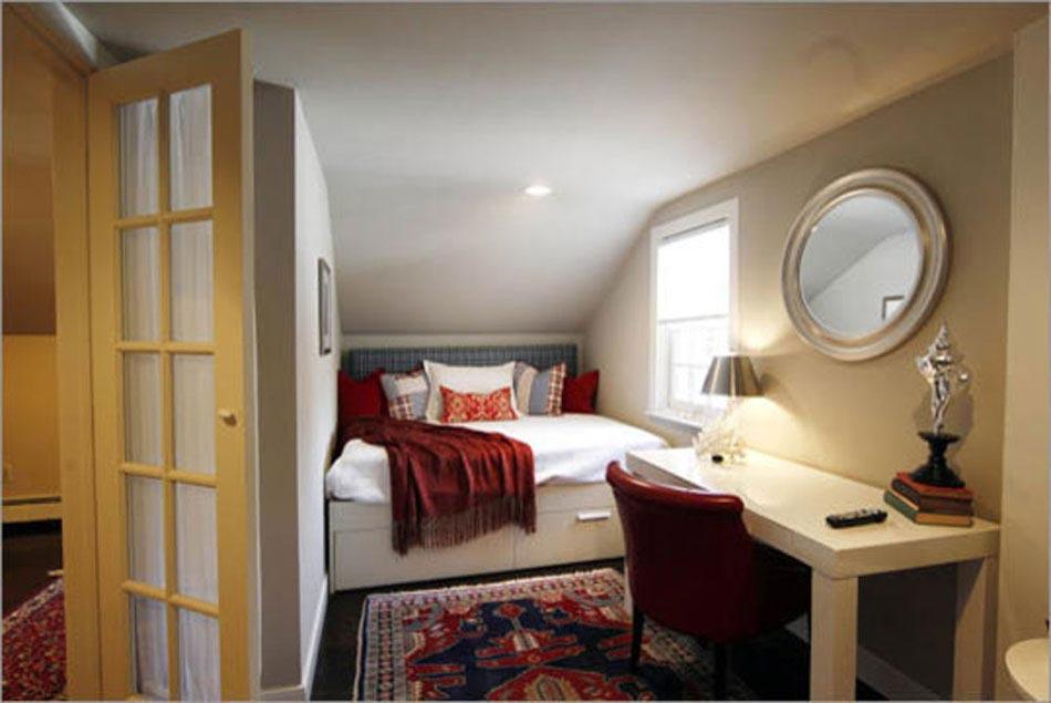 Id es pour l am nagement petite chambre la fois conviviale et moderne design feria for Deco petite chambre simple