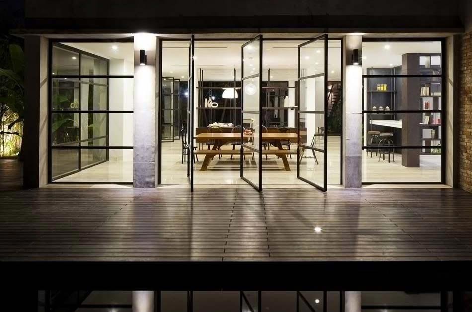 belle maison r nov e au design int rieur moderne et si minimaliste design feria. Black Bedroom Furniture Sets. Home Design Ideas