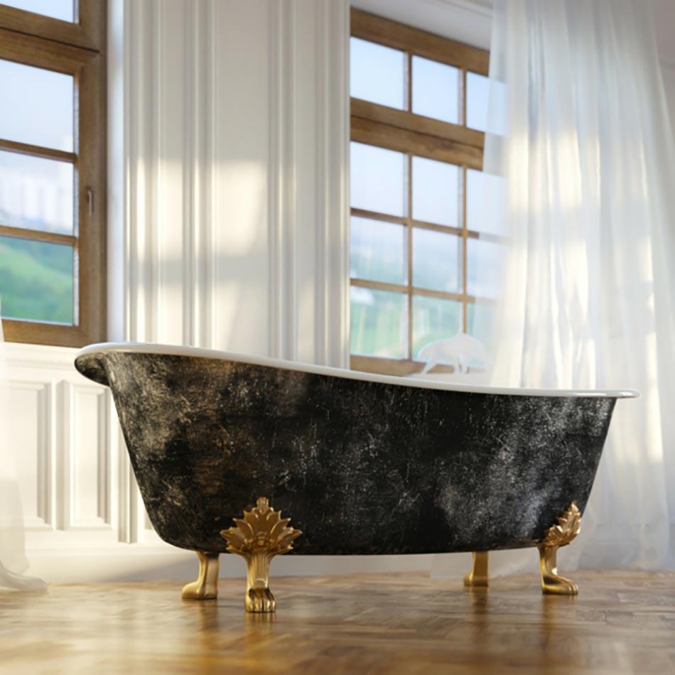 Baignoire ancienne pour une salle de bains retro design feria for Baignoire sur pieds