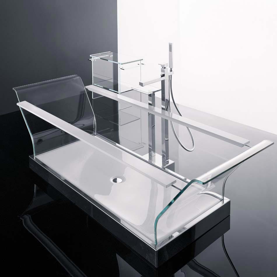 Salle de bain moderne tendance inspir e par le design for Salle de bain baignoire moderne