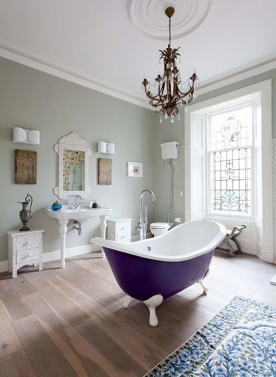 Salle De Bain Beige Meuble Taupe ~ baignoire de couleur pour relooker et embellir votre salle de bains