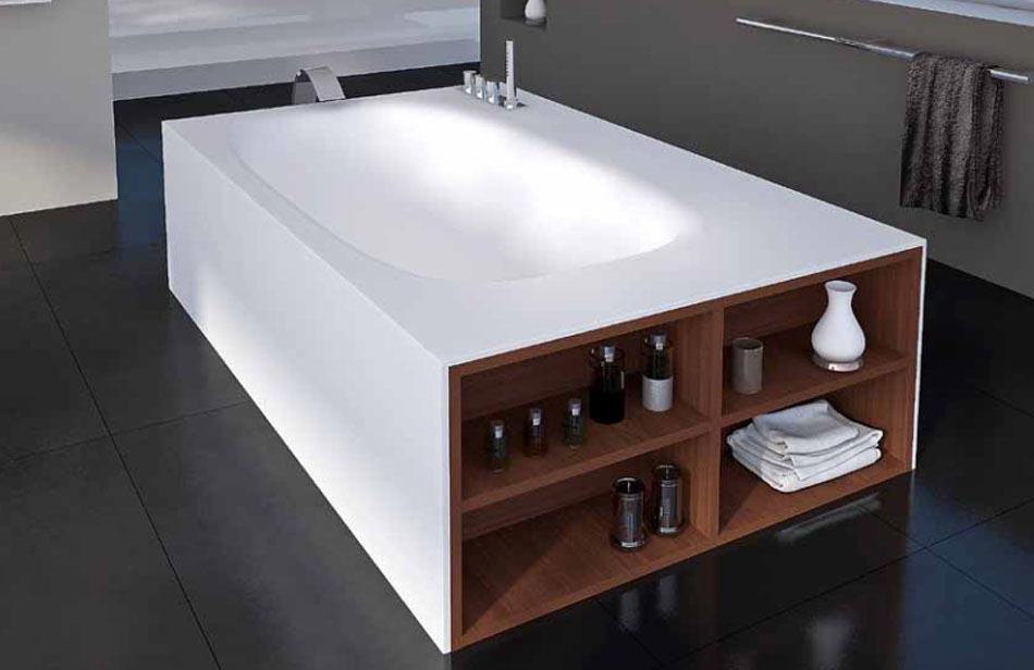 Sp cial petits apparts et maisons gain de place l aide for Rangement baignoire