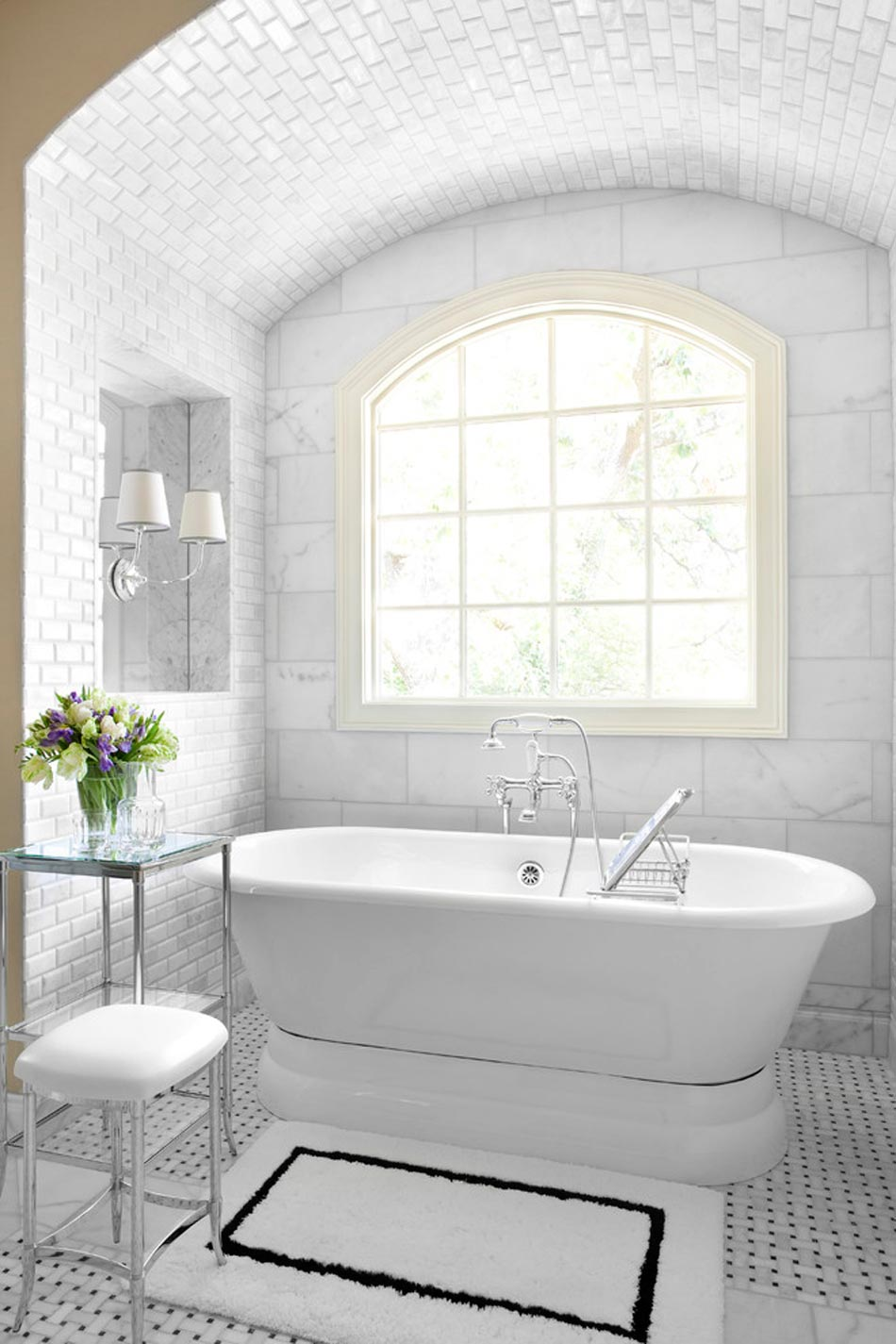 Electricite Salle De Bain Securite ~ salle de bain marbre blanc pour afficher une classe intemporelle
