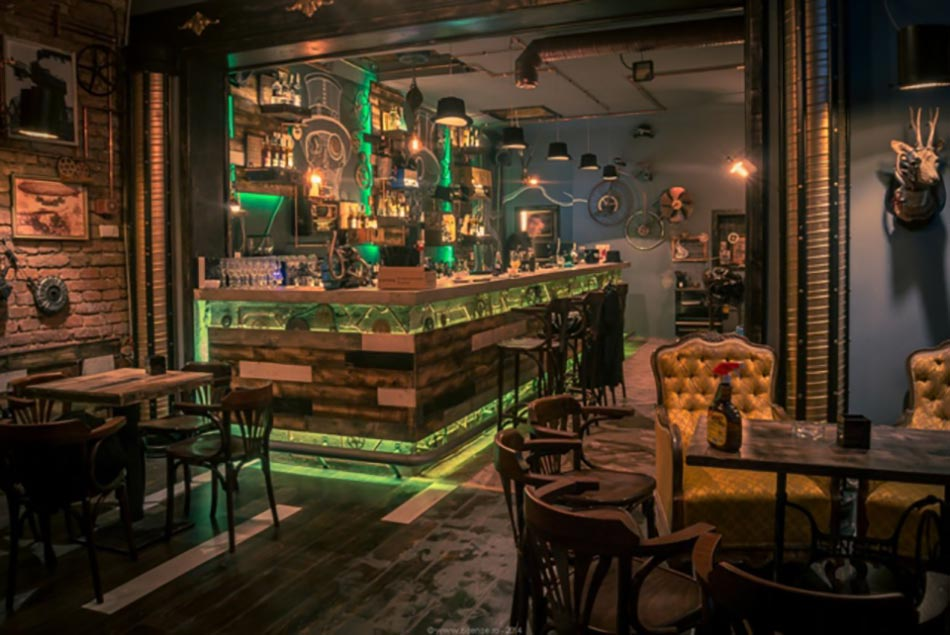 bar design l ambiance r tro aventuri re design feria. Black Bedroom Furniture Sets. Home Design Ideas