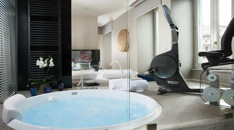 Palazzo manfredi pour un s jour inoubliable rome for Salle de bain design luxe noir et blanc