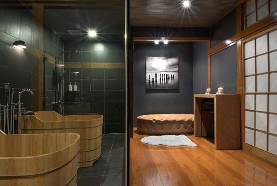 Une d co zen pour une salle de bains minimaliste design for Carrelage japonais