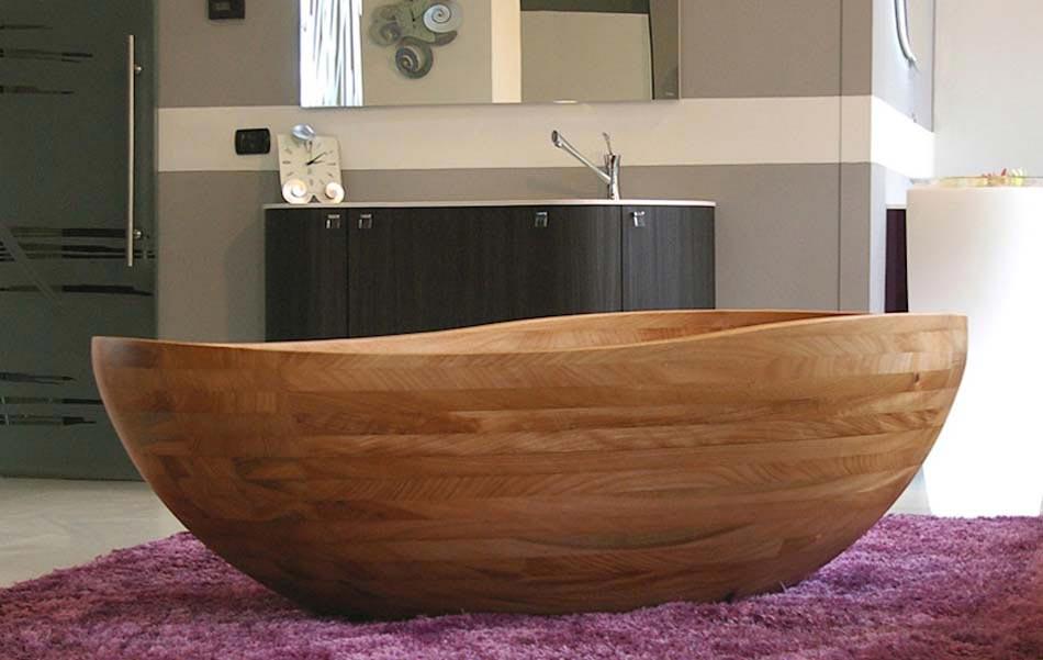 Baignoire design en bois ou les salles de bains aux for Salle de bain baignoire moderne