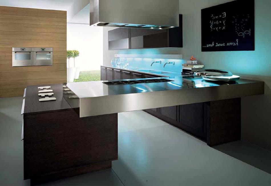 Une cuisine design futuriste vue par les yeux des for Cuisine design luxe