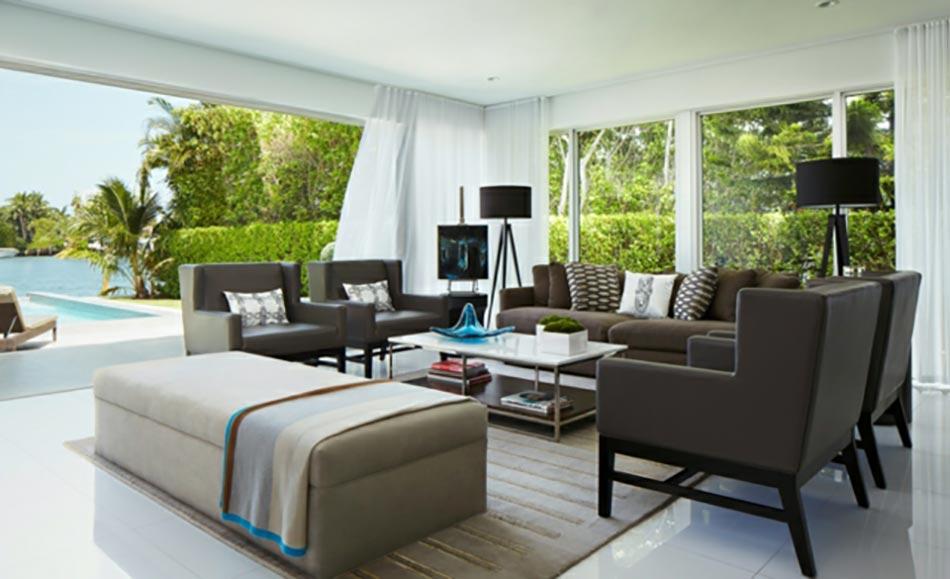 un salon moderne baign par la lumi re naturelle design feria. Black Bedroom Furniture Sets. Home Design Ideas