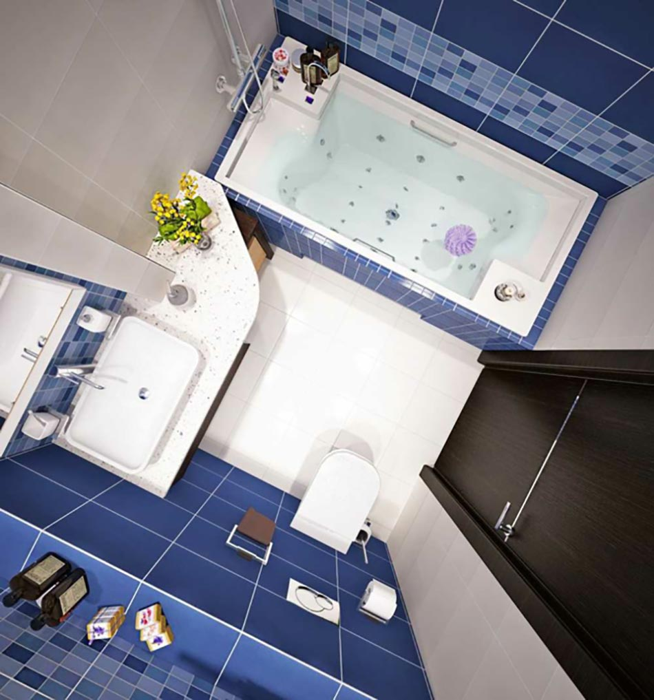D co petite salle de bain appartement for Belle petite salle de bain
