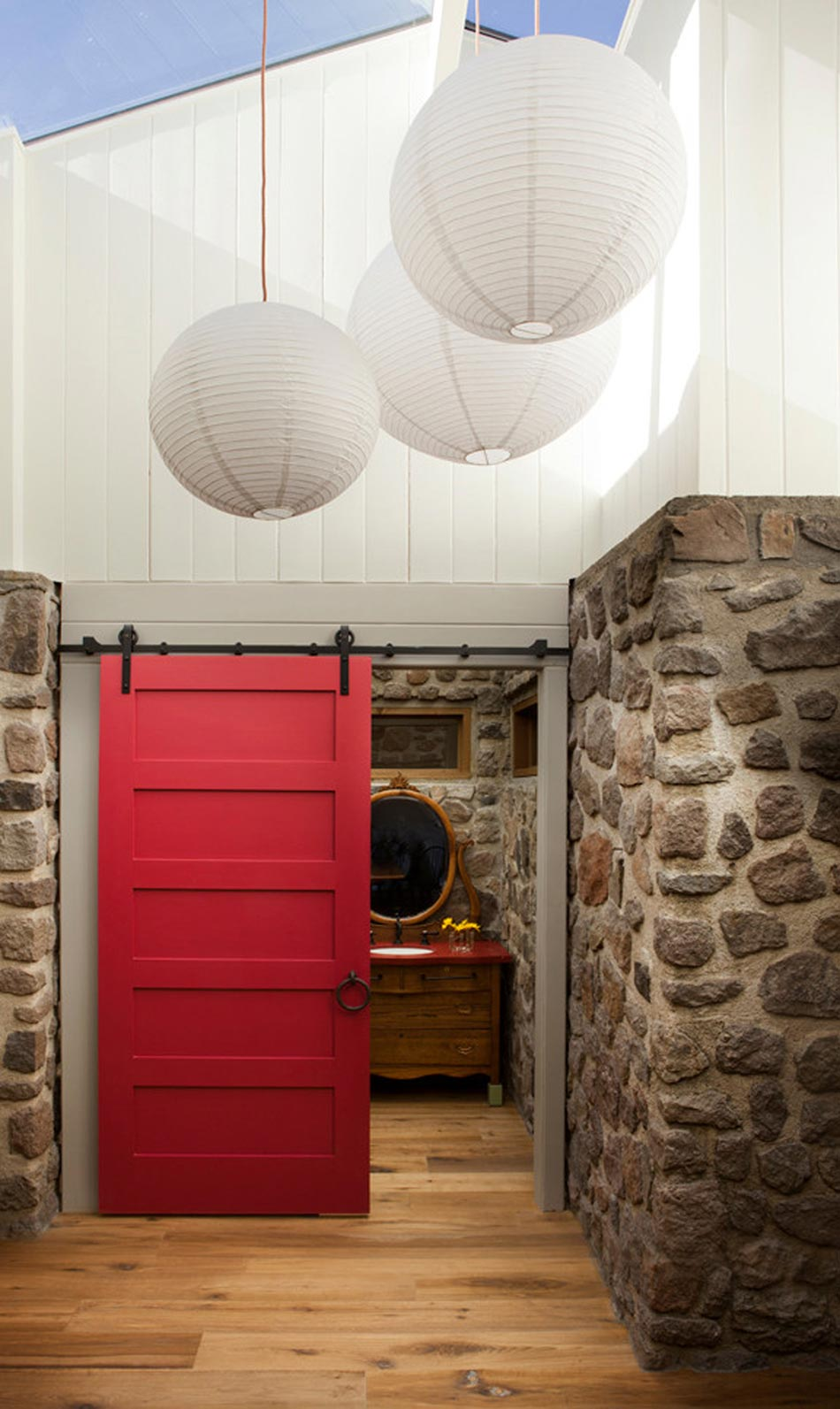 Porte coulissante design cr ant des ambiances d int rieur for Meuble johnson