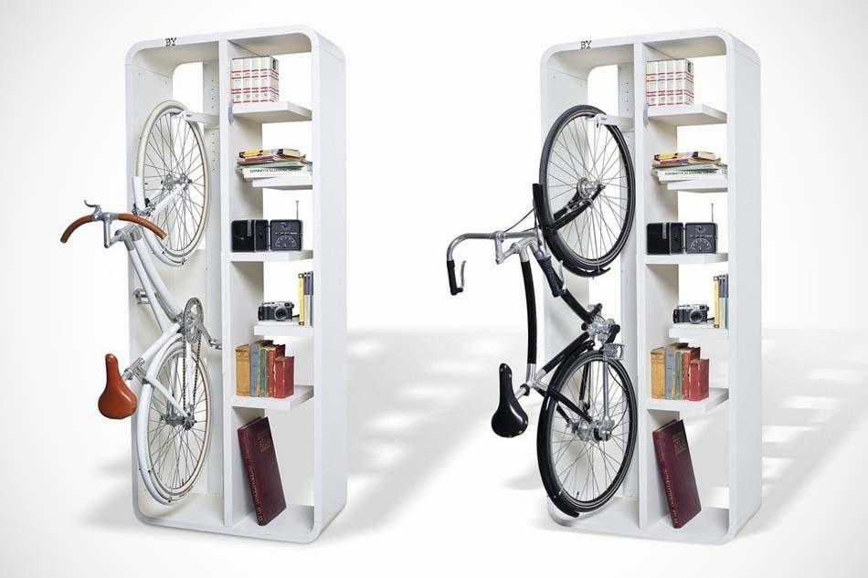support v lo au design int ressant et cr atif pour gagner de place et gayer la maison. Black Bedroom Furniture Sets. Home Design Ideas