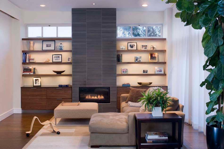 Biblioth que ouverte tag res modernes en tant qu l ment d co d un s jour design design feria - Bibliotheque decoratie de maison ...