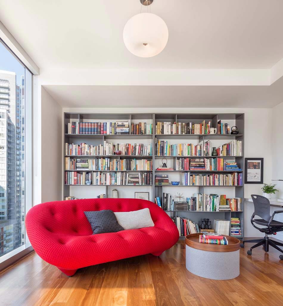 15 exemples pour am nager un agr able et convivial coin lecture la maison design feria - Bibliotheque decoratie de maison ...