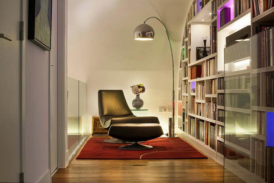 15 exemples pour am nager un agr able et convivial coin for Amenagement bibliotheque salon