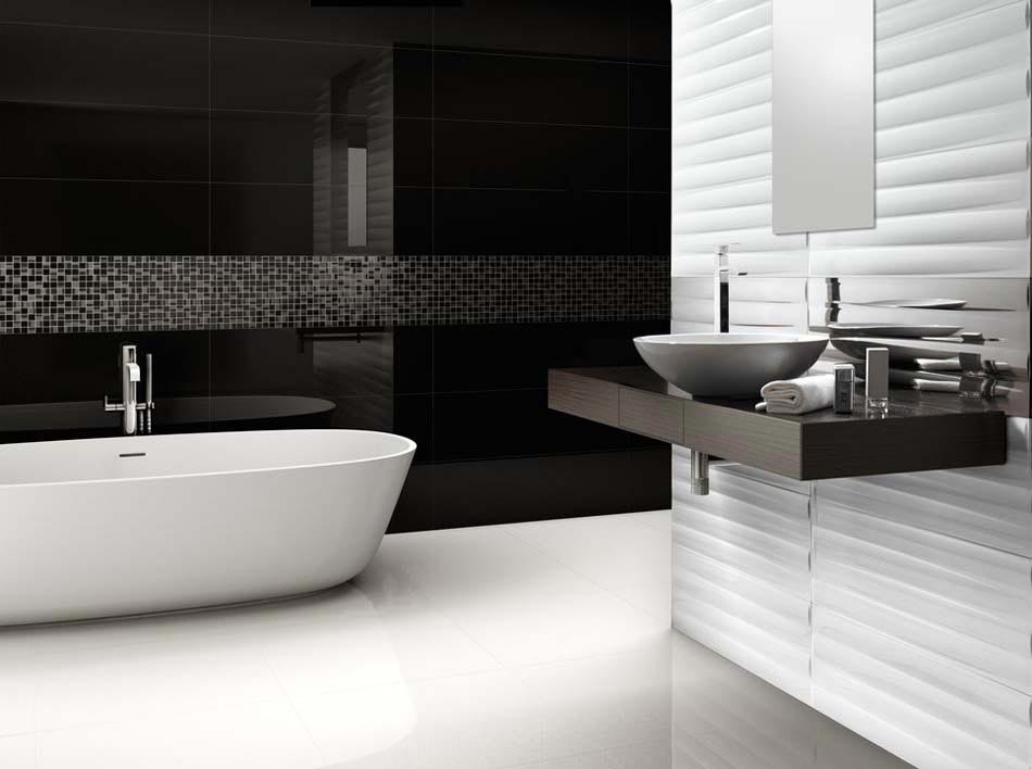 salle de bain contemporaine l allure l gante et zen par. Black Bedroom Furniture Sets. Home Design Ideas