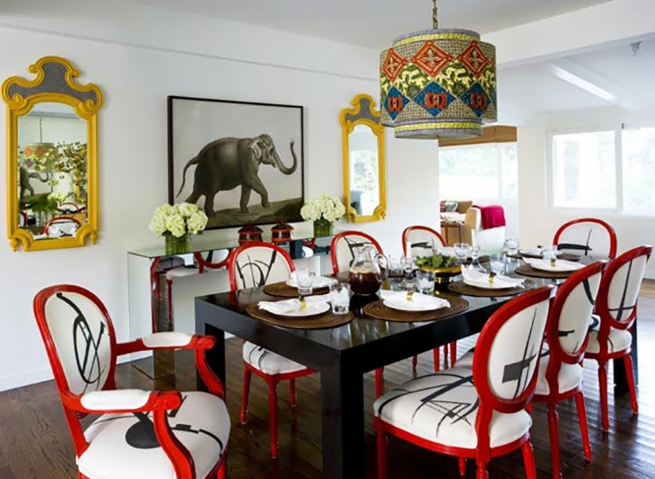 Salle  Manger Moderne Aux Chaises Design Uniques  Design Feria