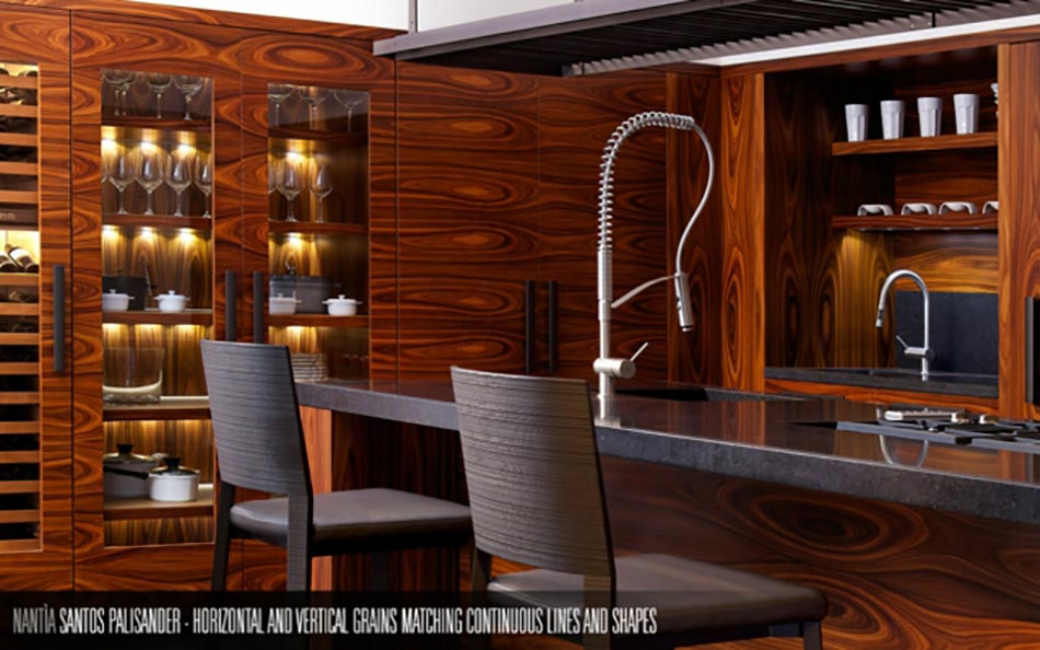 Toncelli ou la cuisine design artisanale italienne for Cuisine luxe bois