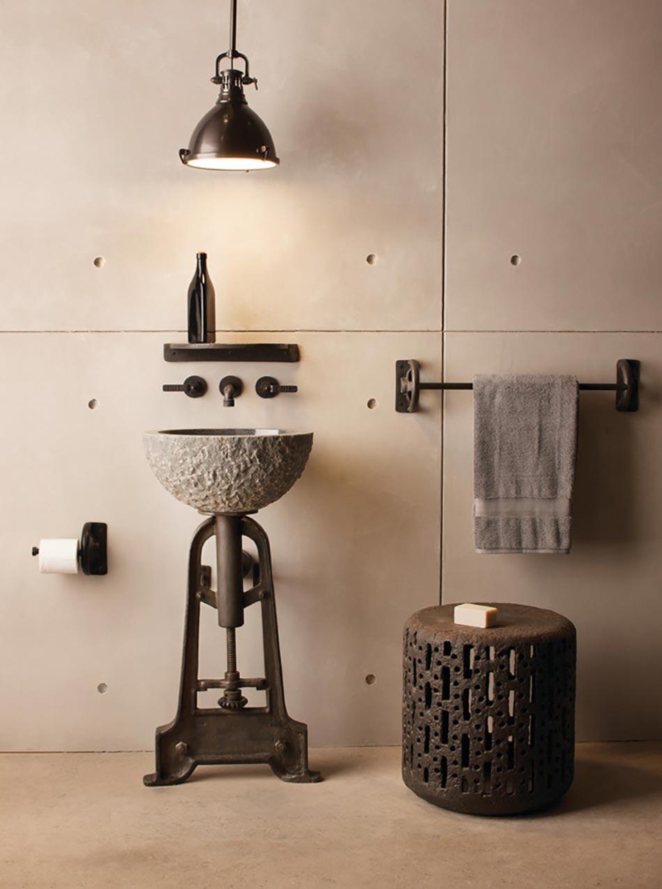 Cr ative et originale salle de bain au design industriel - Decoration style industriel ...