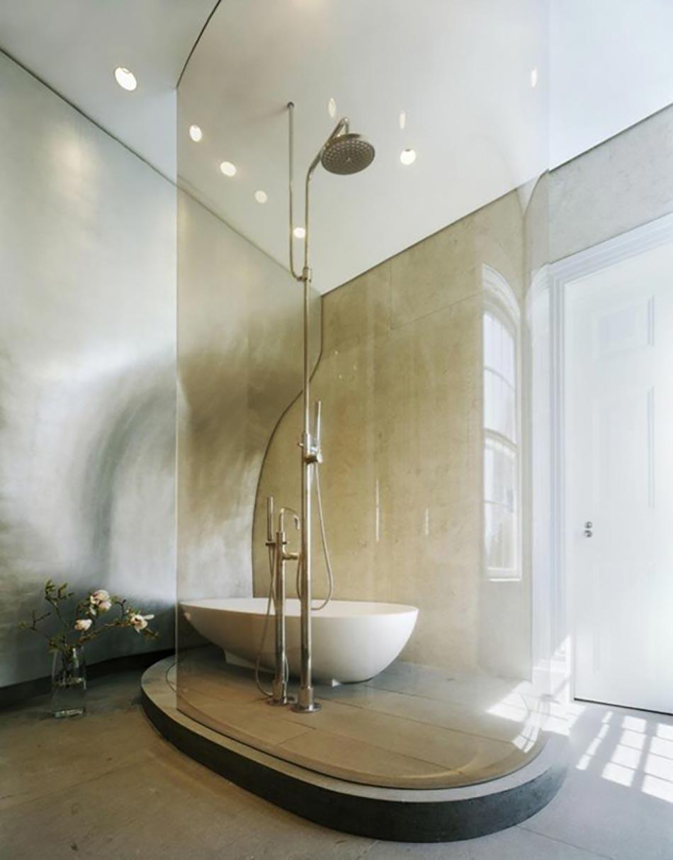 salle de bain d cor e par une douche design ultime design feria. Black Bedroom Furniture Sets. Home Design Ideas