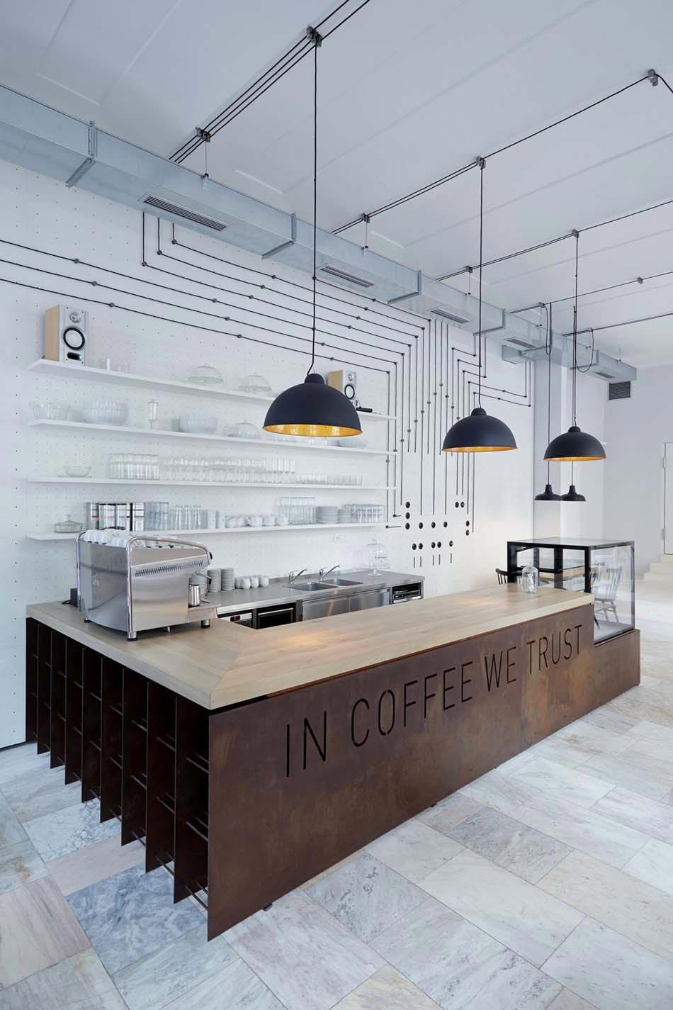 Un bistro café au concept design minimaliste et artistique au cœur ...
