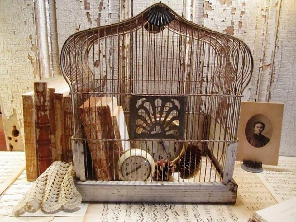 Deco vintage un brin romantique avec des voli res design - Cage oiseau decorative interieur ...