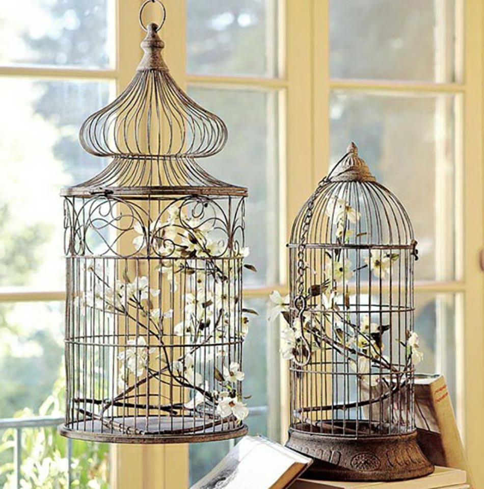 cage a oiseau deco. Black Bedroom Furniture Sets. Home Design Ideas