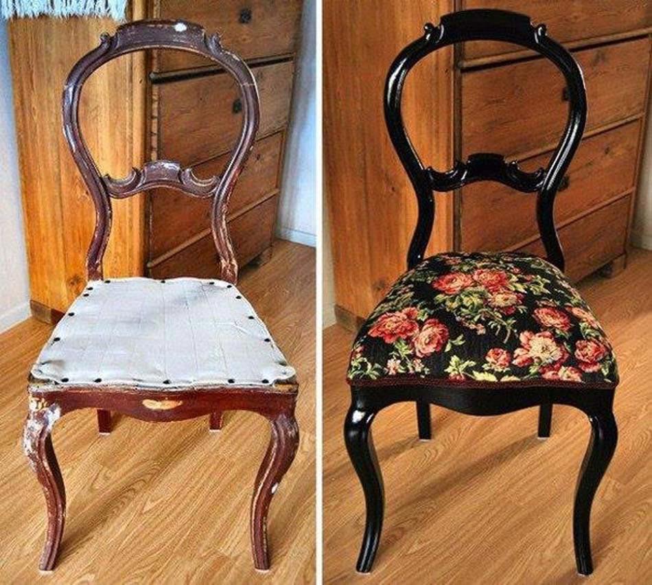 Chaise En Bois Repeinte meuble restauré de façon simple et créative retrouvant une