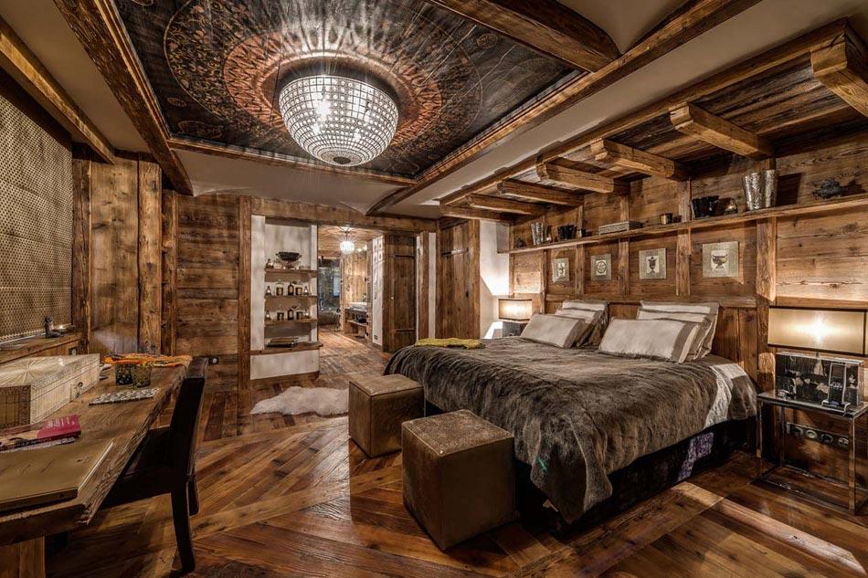 L int rieur bois rustique garantie pour la chaleur et le bien tre dans une maison secondaire for Photo dinterieur de chalet de montagne