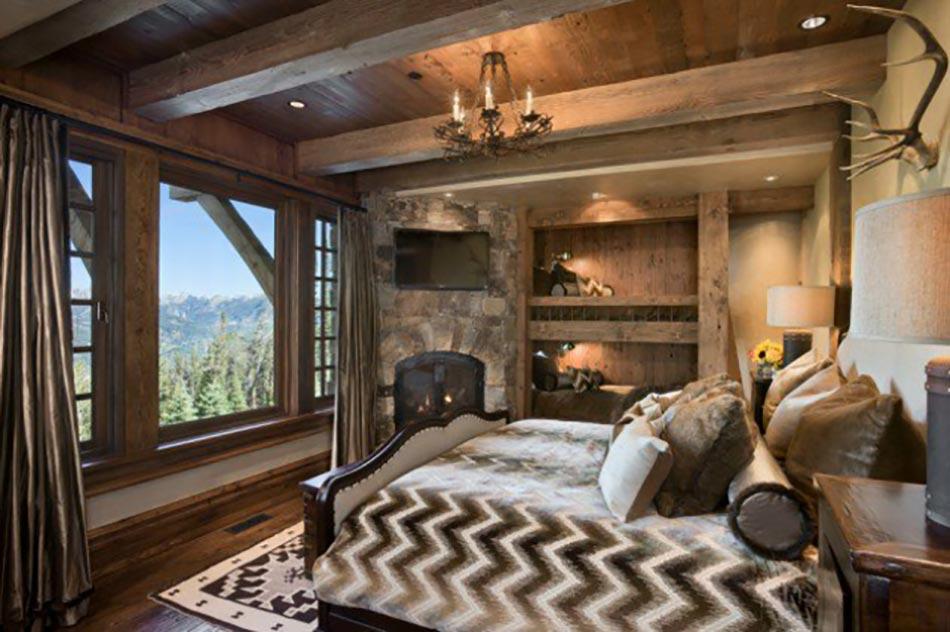 L\'esprit montagne reflété dans une chambre rustique | Design ...